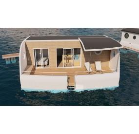 Habitat flottant Aquaboat Trio vue extérieur