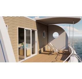 Floating home Aquaboat Trio 3 chambres