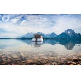 Maison flottante Lodges boats Aquamarine 11.5 en mer
