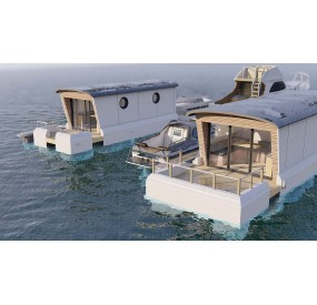 Maison flottante Lodges boats Aquamarine 11.5
