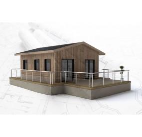 Maison flottante  Aquahome41, visuel extérieur