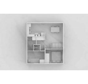 Maison flottante  Aquahome41 plan intérieur