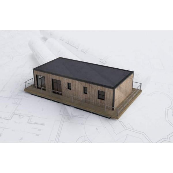 Maison flottante Aquahome66 vue facade